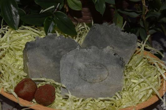 Мыло ручной работы. Ярмарка Мастеров - ручная работа. Купить Натуральное мыло для жирной и проблемной кожи Белая и голубая глина. Handmade.