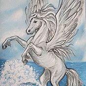 Аксессуары handmade. Livemaster - original item Tie the Pegasus silk. Handmade.