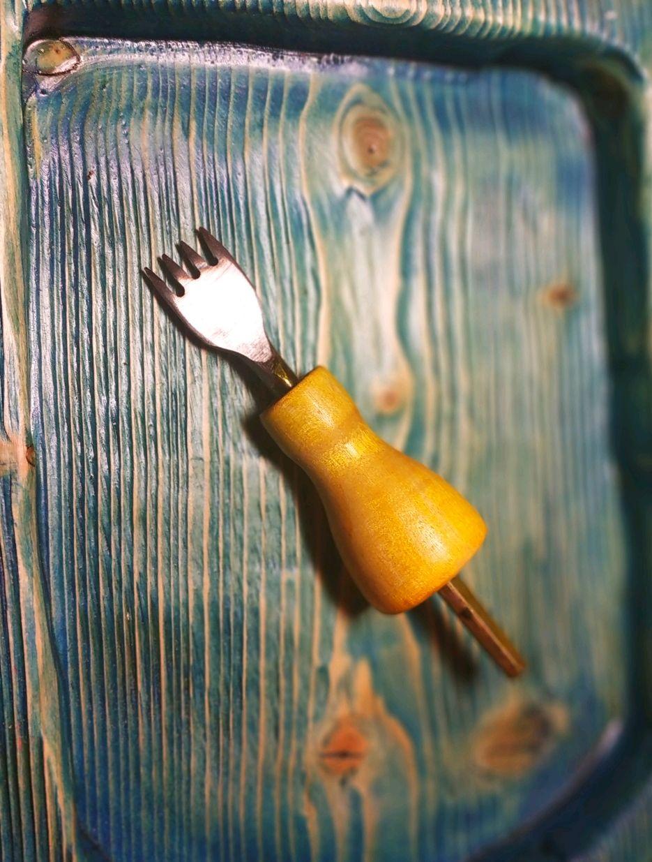 Валяние ручной работы. Ярмарка Мастеров - ручная работа. Купить Строчный пробойник 4z/4mm для кожи. Handmade. Вилка, сталь