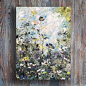 Картины и панно handmade. Livemaster - original item Oil painting Flower oil painting Spring lawn. Handmade.