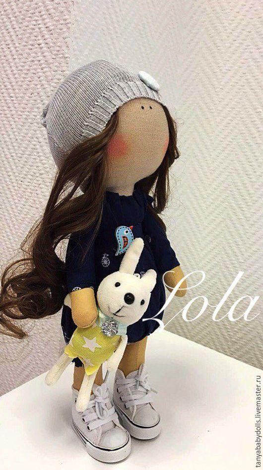 Куклы тыквоголовки ручной работы. Ярмарка Мастеров - ручная работа. Купить Интерьерная куколка. Handmade. Тёмно-синий, Санкт-Петербург