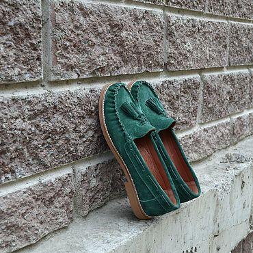 Обувь ручной работы. Ярмарка Мастеров - ручная работа Мокасины женские замшевые. Handmade.