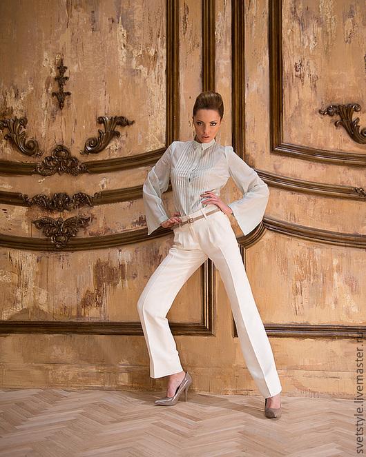 Стильная белая блузка купить. Купить блузку для офиса. Ярмарка Мастеров - ручная работа. Дизайнер Лана Морозова