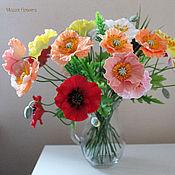 Цветы и флористика handmade. Livemaster - original item Bouquet of poppies