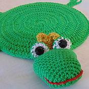 Для дома и интерьера handmade. Livemaster - original item STAND the FROG under a hot mug Cup knitted. Handmade.
