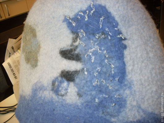 """Банные принадлежности ручной работы. Ярмарка Мастеров - ручная работа. Купить шапочка для бани  """"Как она там, в тумане?"""". Handmade. Комбинированный"""