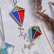 Украшения handmade. Livemaster - original item Pendant-brooch made of stained glass
