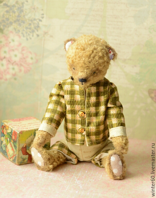 Мишки Тедди ручной работы. Ярмарка Мастеров - ручная работа. Купить Старый друг Потап. Handmade. Бежевый, вручную, мулине