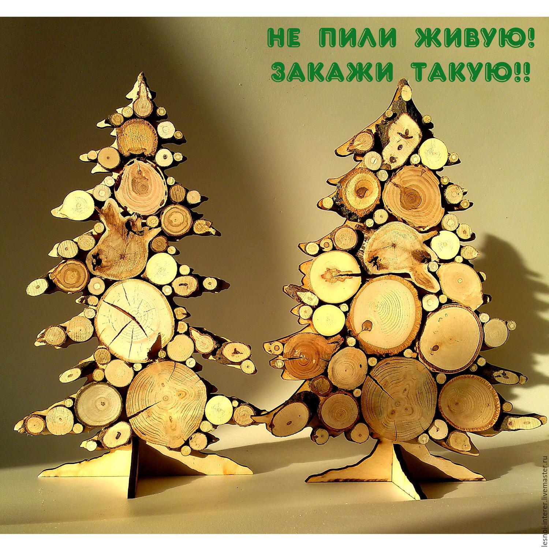 Новогодний декор. ПАННО из дерева - ЭКОстильная Елочка, Елки, Казань, Фото №1