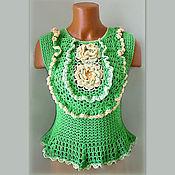 Одежда handmade. Livemaster - original item Blouse may greens. Handmade.