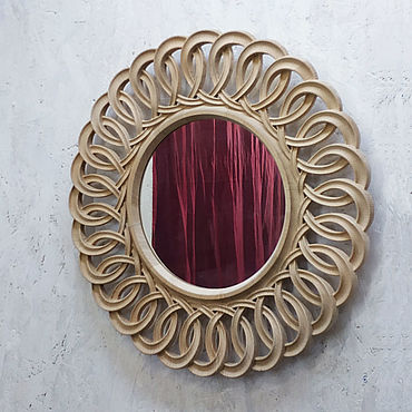Для дома и интерьера ручной работы. Ярмарка Мастеров - ручная работа Зеркало настенное круглое Венецианское кружево. Handmade.