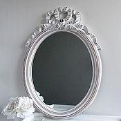 Винтаж ручной работы. Ярмарка Мастеров - ручная работа Зеркало настенное овал розы шебби прованс. Handmade.