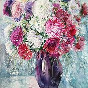 Картины и панно handmade. Livemaster - original item Watercolor painting Star bouquet. Handmade.