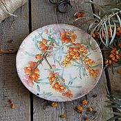 """Посуда ручной работы. Ярмарка Мастеров - ручная работа """"Краски осени"""" Деревянная тарелка ОЛЬХА. Handmade."""