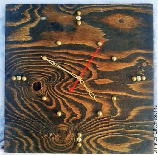 """Часы для дома ручной работы. Ярмарка Мастеров - ручная работа. Купить Деревянные часы """"Loft"""". Handmade. Деревянные настенные часы"""