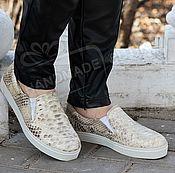 Обувь ручной работы handmade. Livemaster - original item Espadrilles from Python beige. Handmade.