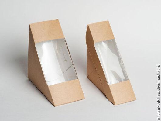 Упаковка ручной работы. Ярмарка Мастеров - ручная работа. Купить Коробка треугольная. Handmade. Коробка, коробка с окошком, коробка из картона