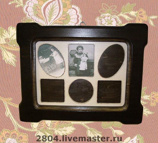 Фоторамки ручной работы. Ярмарка Мастеров - ручная работа. Купить Фоторамка № 16П деревянная Рамка для фото в винтажном стиле. Handmade.