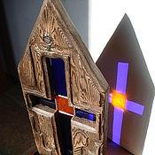 """Для дома и интерьера ручной работы. Ярмарка Мастеров - ручная работа витраж """"Крест"""". Handmade."""