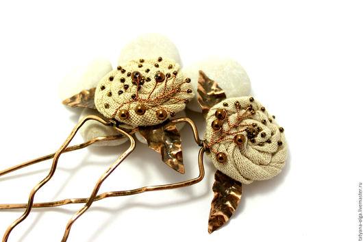 Пара шпилек Чайные розы