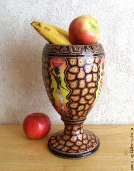 """Вазы ручной работы. Ярмарка Мастеров - ручная работа. Купить Ваза """" Африканские мотивы"""". Handmade. Интерьерная ваза, распечатка"""