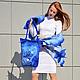 """Комплекты аксессуаров ручной работы. Ярмарка Мастеров - ручная работа. Купить Сумка """"Морской бриз"""". Handmade. Голубой, дизайнерская сумка"""