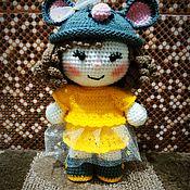 Мягкие игрушки ручной работы. Ярмарка Мастеров - ручная работа Кукла в костюме мышки. Handmade.