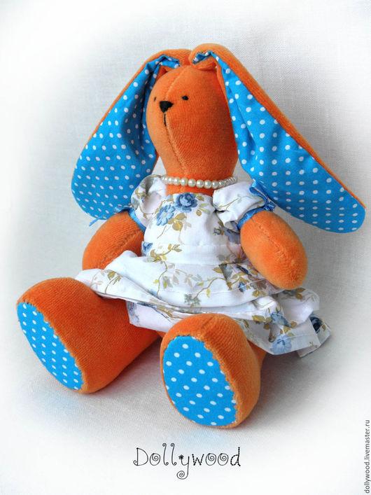 Игрушки животные, ручной работы. Ярмарка Мастеров - ручная работа. Купить Плюшевая Зайка Алиса. Handmade. Оранжевый, красивое платье