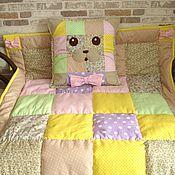 """Работы для детей, ручной работы. Ярмарка Мастеров - ручная работа Детское одеяло и подушка - комплект """"Котик"""". Handmade."""