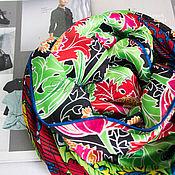 Аксессуары handmade. Livemaster - original item Natural silk scarf from Valentino fabric