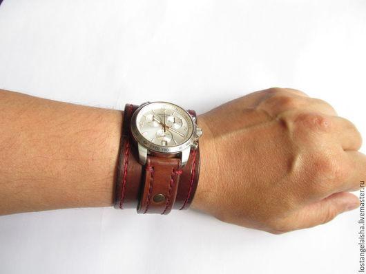 Пояса, ремни ручной работы. Ярмарка Мастеров - ручная работа. Купить Ремешок для часов. Handmade. Бордовый, ремешок из кожи, фурнитура