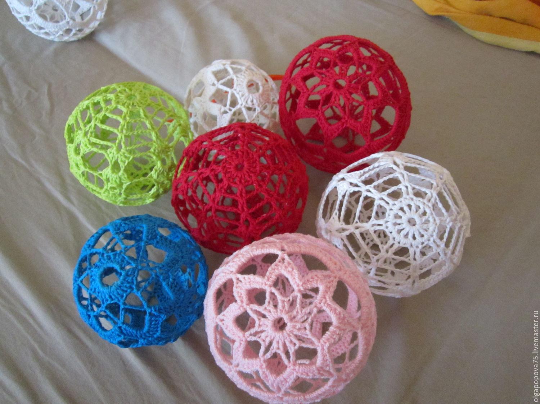 вязанные шары на ёлку купить в интернет магазине на ярмарке