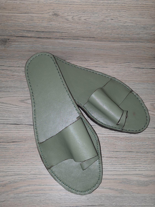 Обувь ручной работы. Ярмарка Мастеров - ручная работа. Купить Кожаные шлепки. Handmade. Обувь ручной работы, чепрак