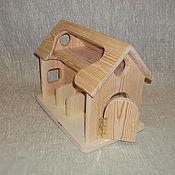Материалы для творчества ручной работы. Ярмарка Мастеров - ручная работа 570 Домик деревянный (ферма) малый. Handmade.