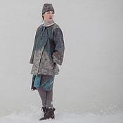 Одежда ручной работы. Ярмарка Мастеров - ручная работа Полупальто и юбка из войлока. Handmade.