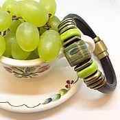 """Украшения ручной работы. Ярмарка Мастеров - ручная работа Браслет """"Виноград"""" в стиле регализ (лэмпворк). Handmade."""