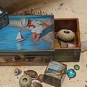 Для дома и интерьера handmade. Livemaster - original item boxes for sea treasures. Handmade.