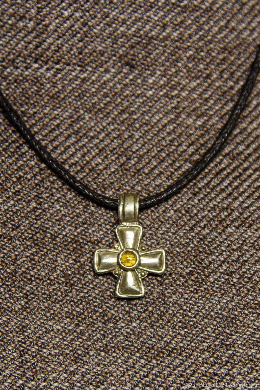"""Кулоны, подвески ручной работы. Ярмарка Мастеров - ручная работа. Купить Крест """"Ангел Господень"""" (с полудрагоценным камнем). Handmade."""