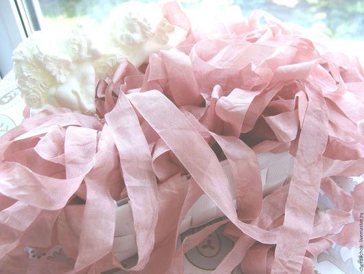 Открытки и скрапбукинг ручной работы. Ярмарка Мастеров - ручная работа. Купить Шебби-лента Розовые лепестки. Handmade. Шебби лента