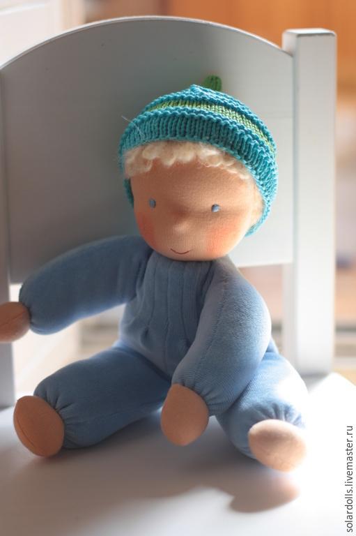 Вальдорфская кукла ручной работы. Степашка 30 см см. SolarDolls, (Julia Solarrain)