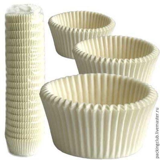Упаковка ручной работы. Ярмарка Мастеров - ручная работа. Купить Бумажные капсулы диаметр 5см. Handmade. Белый, капсула, для капкейков