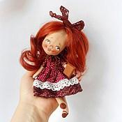 Куклы и игрушки ручной работы. Ярмарка Мастеров - ручная работа Чудо на ладошке Вишенка с Шоколадкой. Handmade.