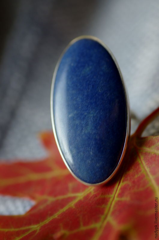 Ring dumortierite 'Cornflower blue' jeans-stone, silver, Rings, Moscow,  Фото №1