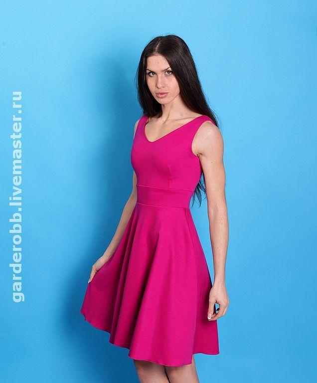 Трикотажные женские платья с пышной юбкой фото