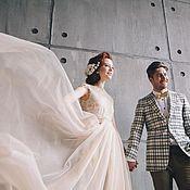 """Свадебный салон ручной работы. Ярмарка Мастеров - ручная работа Свадебное платье """"Кремовая пыль"""". Handmade."""