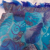 Аксессуары ручной работы. Ярмарка Мастеров - ручная работа Палантин валяный Серенада с морскими ракушками. Handmade.