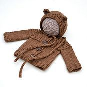 Sweater Jackets handmade. Livemaster - original item Blouse for a newborn baby boy beanie for discharge. Handmade.