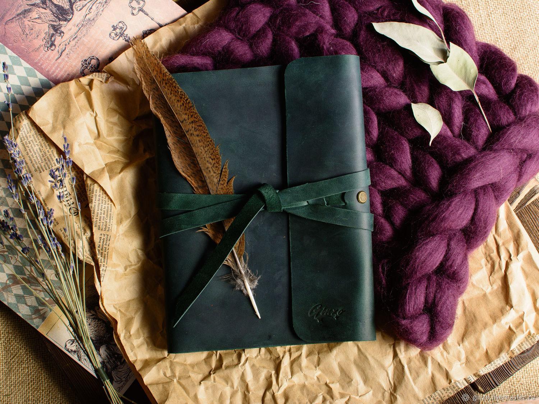 Кожаный блокнот на кольцах со сменным блоком А5 записная книжка, Блокноты, Тула,  Фото №1