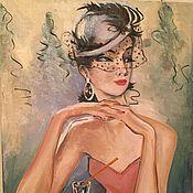 """Картины и панно ручной работы. Ярмарка Мастеров - ручная работа Картина маслом на холсте """"Она"""". Handmade."""