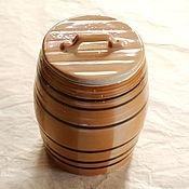 Винтаж handmade. Livemaster - original item Faience bochechka, USSR. 1 liter. Condition is very good.. Handmade.
